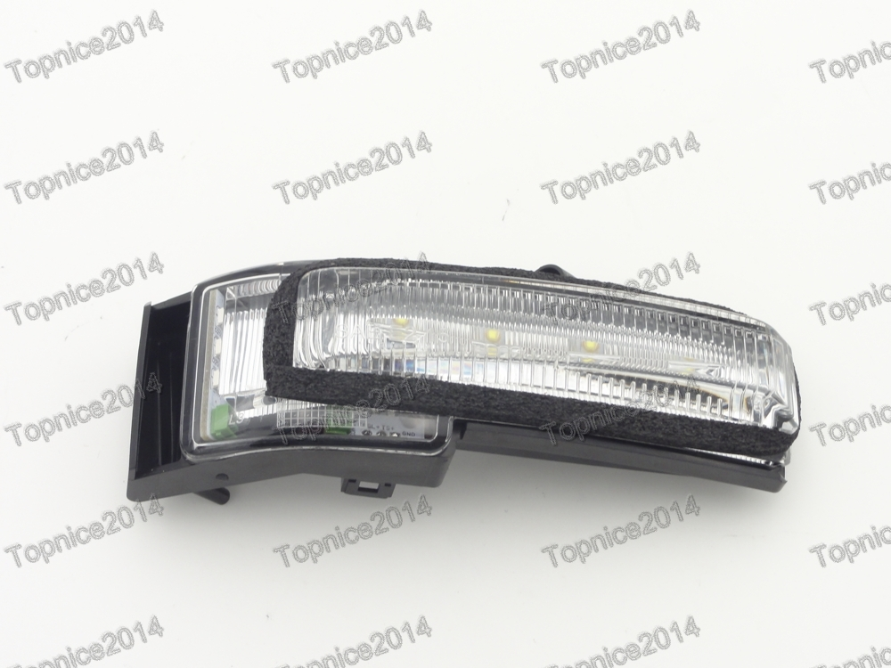 1Pcs Left Side Wing Mirror Indicator Lamp Turn Signal Light For Ford F150 High Configuration 1 pc lh door mirror lamp light turn signals driver side for ford f150 lower configuration