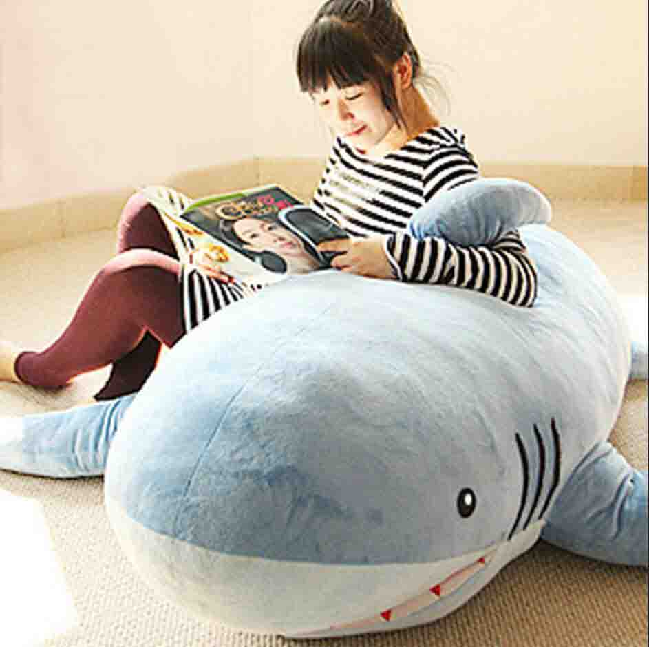 Very nice Plush leasure stuffed Sofa toy Shark plush toy for home living  room or gift