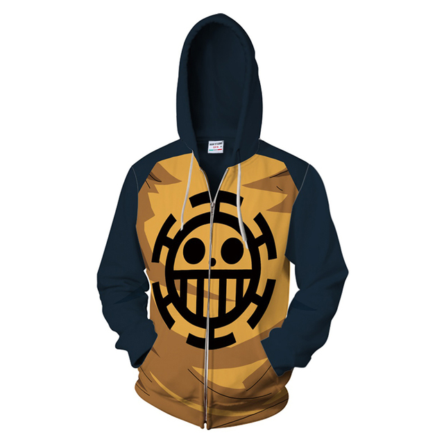 Anime One Piece Zipper Hoodie