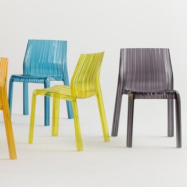 Sedie Plastica Trasparente Design.Design Moderno Plastica In Policarbonato Trasparente Sedia Cafe