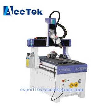 Jinan AccTek 4/5 axis 3D CNC enrutador cortador de alta tecnología servo motor máquina AKM6090 AKG1224 3D 4 ejes CNC enrutador buen Precio