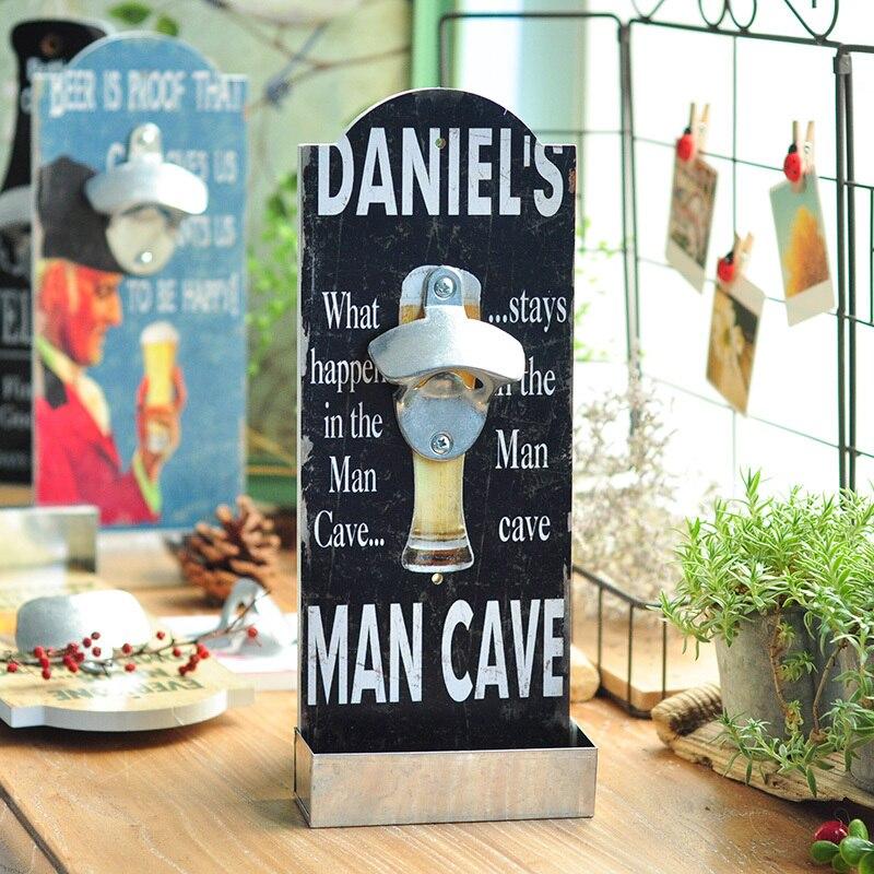 29bf530bee9 Vintage Shabby Houten Muur Gemonteerde Flesopener Man Cave Wall Mount Bier  Flesopener met Cap Catcher, bar Tool, 1 Stuk in Vintage Shabby Houten Muur  ...