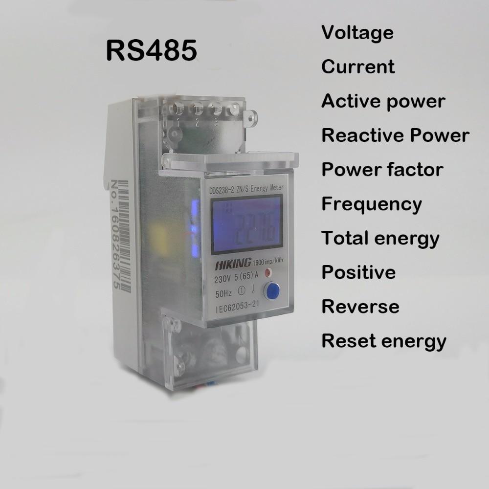 5(65)A 230V 50HZ voltage current DDS238-2 ZN/S single phase Din rail KWH Watt hour energy meter with RS485 MODBUS-RUT рекламный щит dz 5 1 j1a 230 jndx 1 s a