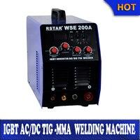 Inverter multi purpose wse200amp AC aluminum copper tig DC Stainless steel tig welding DC ARC welding (IGBT Technology)