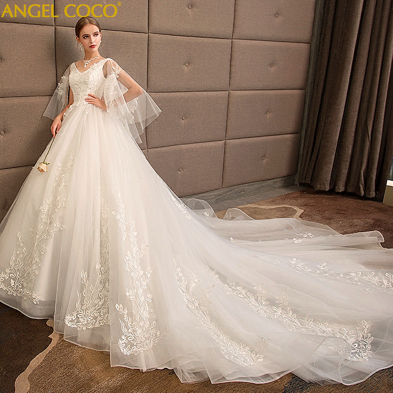 Large Size 100 Kg Pregnancy Maternity Wedding Dress Bride Long Trailing Pregnant Clothes Was Thin Plus Fertilizer To Increase
