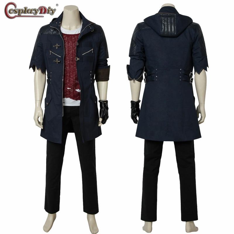 Cosplaydiy Game Devil May Cry 5 Cosplay Nero Coser Costume Jacket Pants Top Shirt  Tee Full Set Adult Men Custom Made