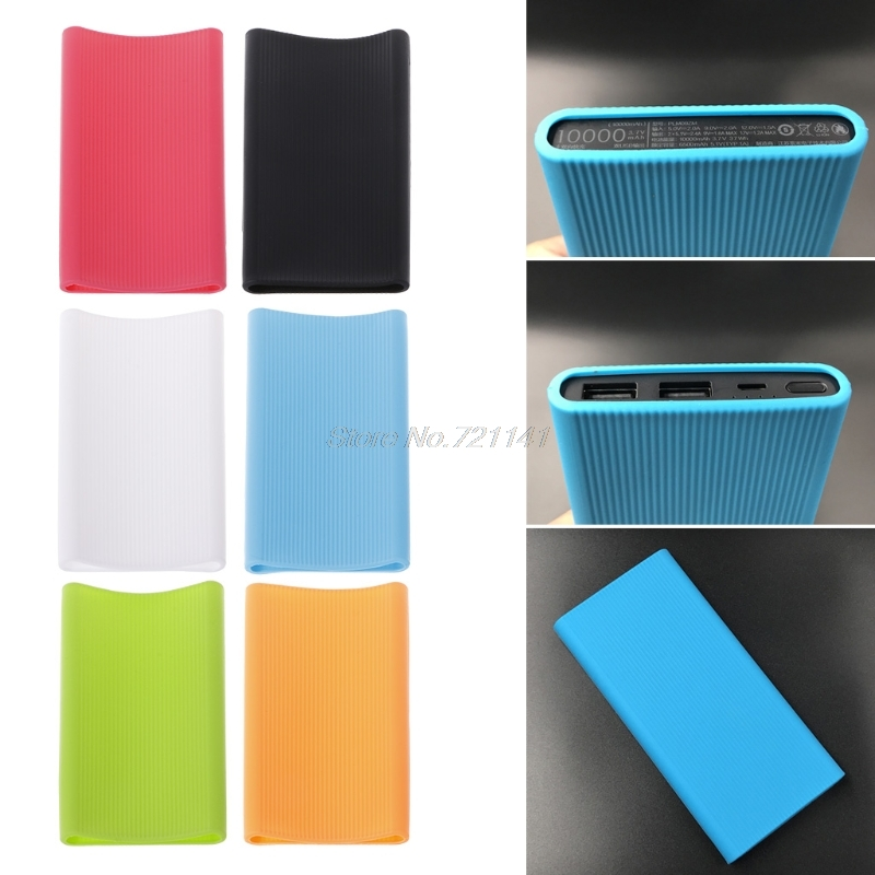 Silicone Powerbank Protection Case Cover Skin For Xiaomi Xiao Mi 10000mAh Power Bank 2 Accessory Electronics Stocks