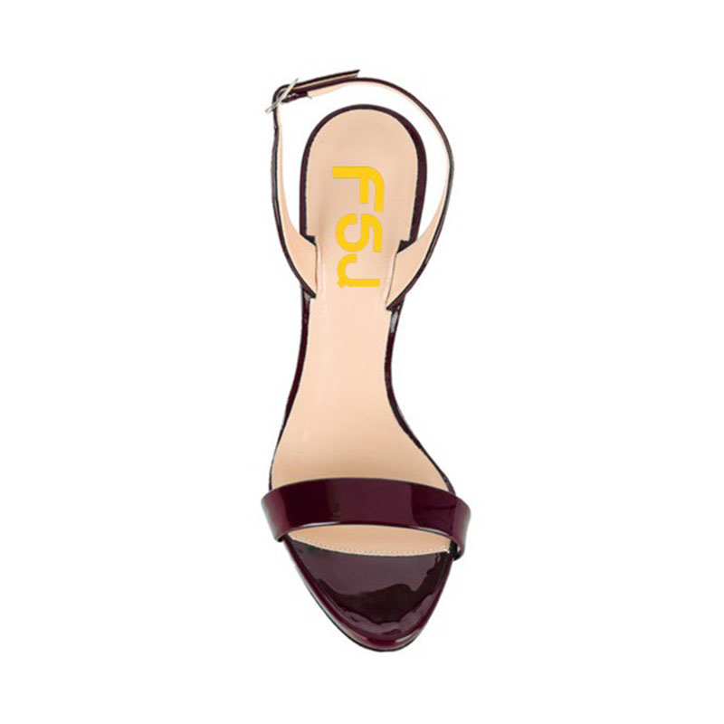 Frauen 12 Damen Größe Schuhe Slingback Herbst Heels Shoes11 2108 Fsj01 Leder Pumpen Ferse Patent Großen 13 Frühling Stiletto Schokolade Fsj dRTwFd