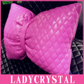 Ladycrystal Cute Pink Car Neck Pillow Car Auto Headrest Pillow Space Cotton Car ushion Cover Car Styling Bowknot Pillow