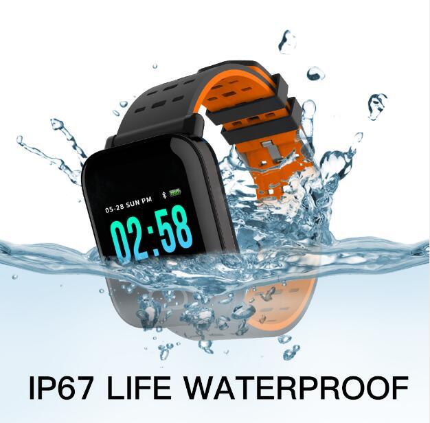 Image 3 - Фабрика A6 Смарт часы монитор сердечного ритма Спорт Фитнес трекер крови Давление напоминание Для мужчин часы для iOS Android подарок-in Смарт-часы from Бытовая электроника