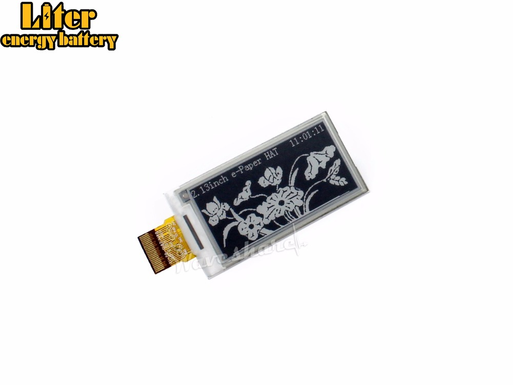 Waveshare. 250x122,2.13inch E-Ink Raw Display Panel Without PCB Communicate Via SPI Interface Supports Various Controller Boards
