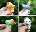 12pcs/lot Animals Cartoon Finger Puppet For Kids Chinese Zodiac Finger Puppets Plush Toys Hand Dolls Pig Dog Fantoche