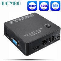 H.265 NVR 8CH 9CH 1080P HD 2MP video surveillance onvif HDMI VGA h.265 security ip camera video recorder CCTV Mini NVR