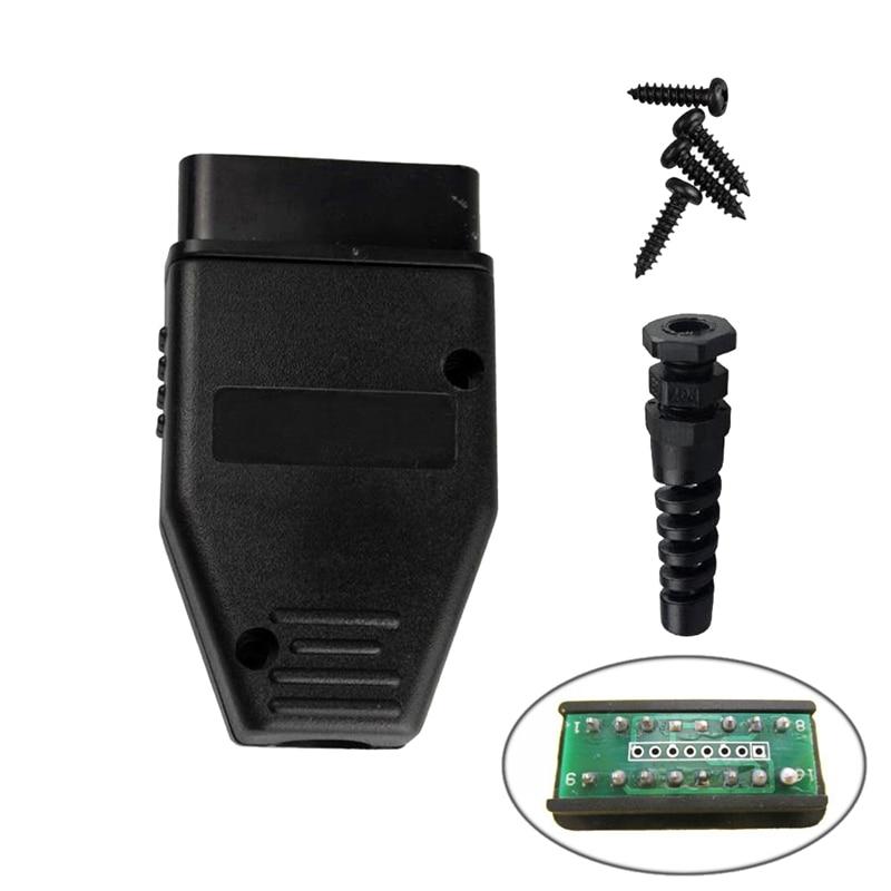 Hot Selling 5pcs OBD2/OBDII/EOBD/JOBD/ODB/ ODB2/ODBII/EOBD2/OBD11/ODB11/J1962 Male Connector Plug Wiring Adapter