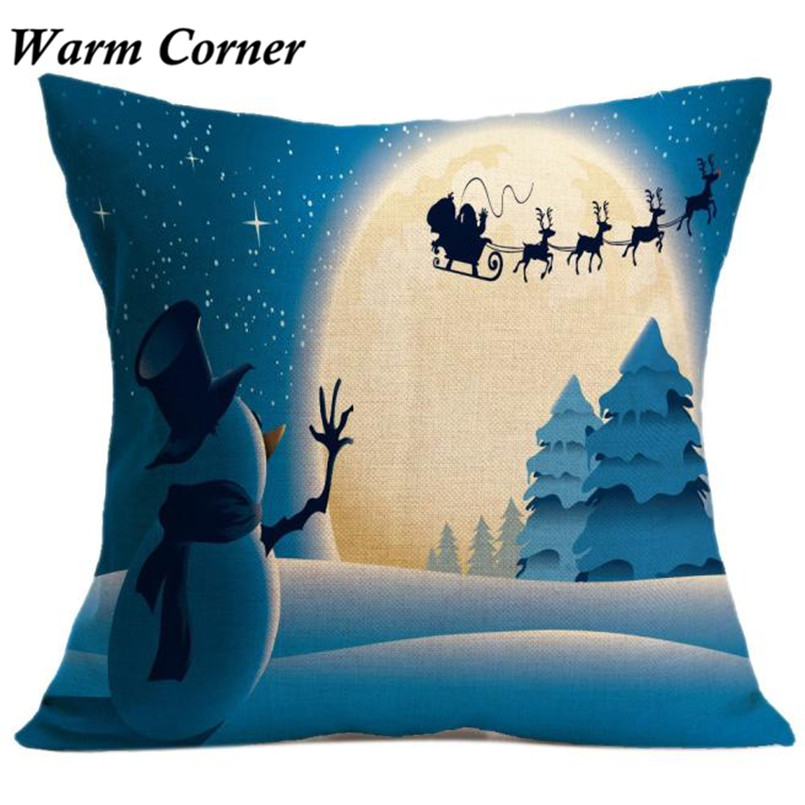2017 New Arrival Square Dark Color Christmas Fabric Cotton Soft So Hot Pillow Case Halloween Free Shipping Sept 23