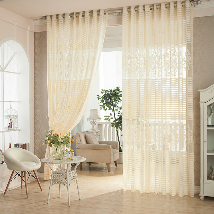 curtains for living room white plant flower jacquard tulle curtains