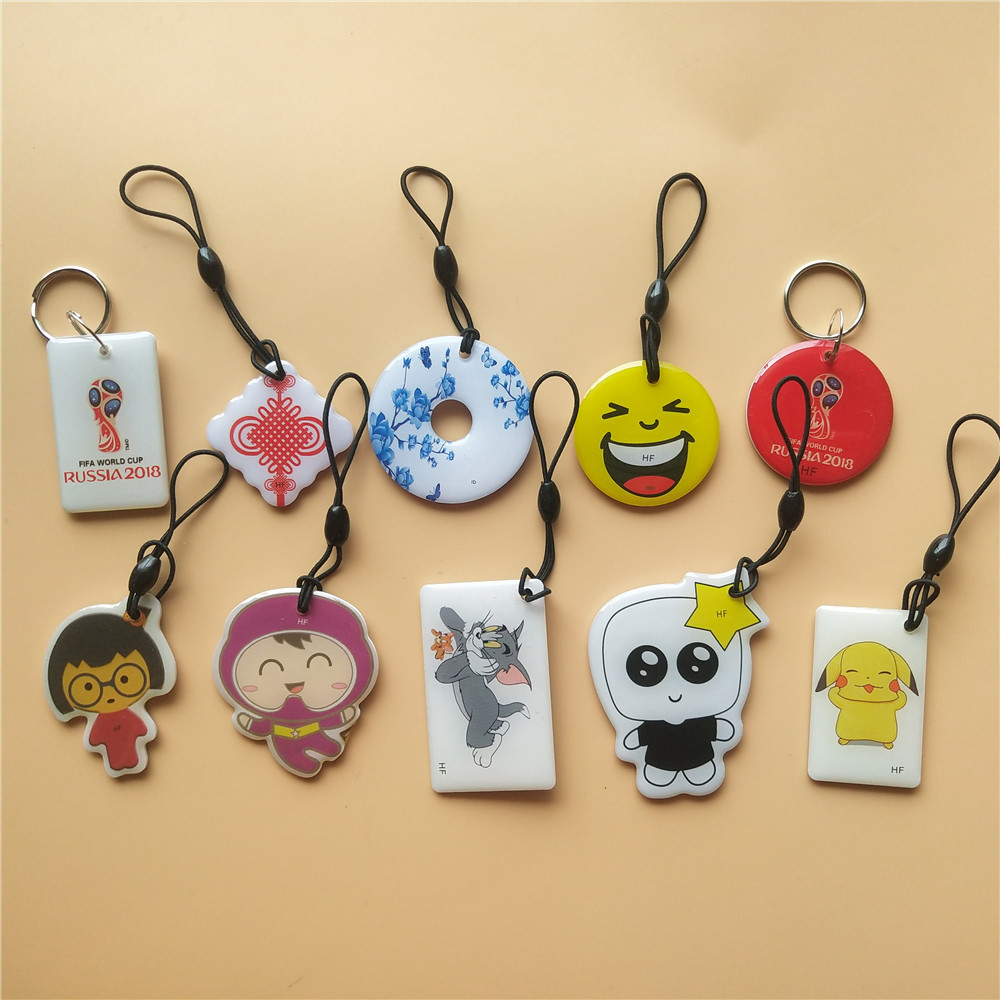125Khz Writable Rewritable RFID Proximity Keyfobs Ring Card RFID ID Tag Door Entry Access Control EM Key Chain Token 1pcs