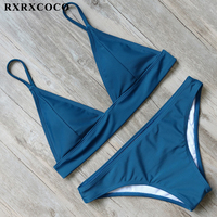 RXRXCOCO Brand New Bikini Set 2017 Padded Swimsuit Women Push Up Bikini Sexy Swimwear Female Low