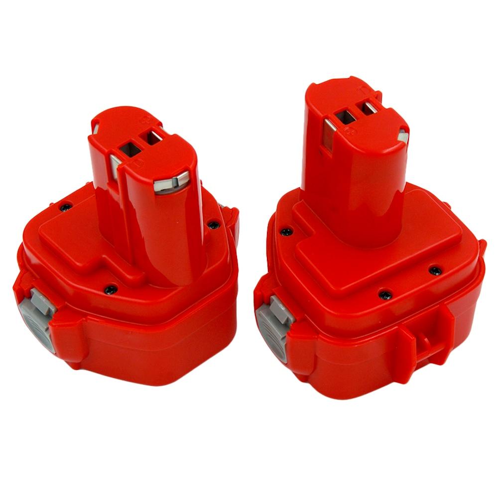 2X NI-CD 12 В 2.0A Замена Батарея для Makita Мощность инструменты 192598-2 6271D 638347-8 192681-5 1220 1222 1233 S 1235 1235A 1235B