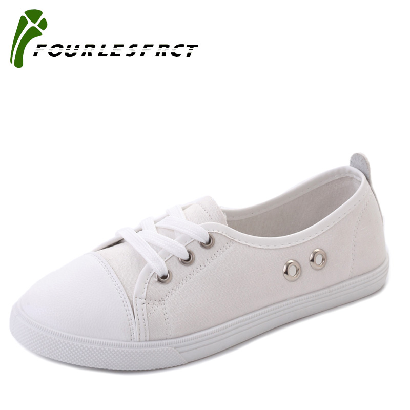 2017 Hot Sale Fashion Women  Canvas Shoes Concise Top Casual Flat Student Shoes Lace Up Solid Canvas Women Shoes 4 Colors 35-40 hot sale 2016 top quality brand shoes for men fashion casual shoes teenagers flat walking shoes high top canvas shoes zatapos