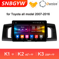 Ownice K1 K2 K3 8 Core 4G RAM 32G ROM Android 9.0 Car Radio for Toyota 2007 2016 Car Central Multimidia Player DAB+ DVR DH332