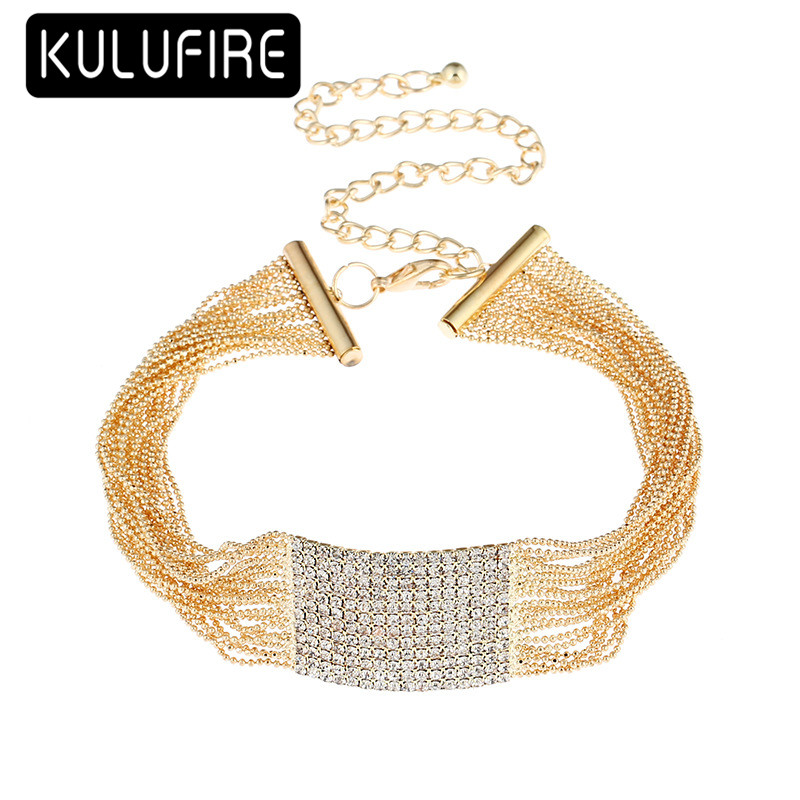 KULUFIRE necklaces & pendant Choker Necklace women 2018 Fashion Wedding Party Christmas Sexy chocker Statement anime kolye