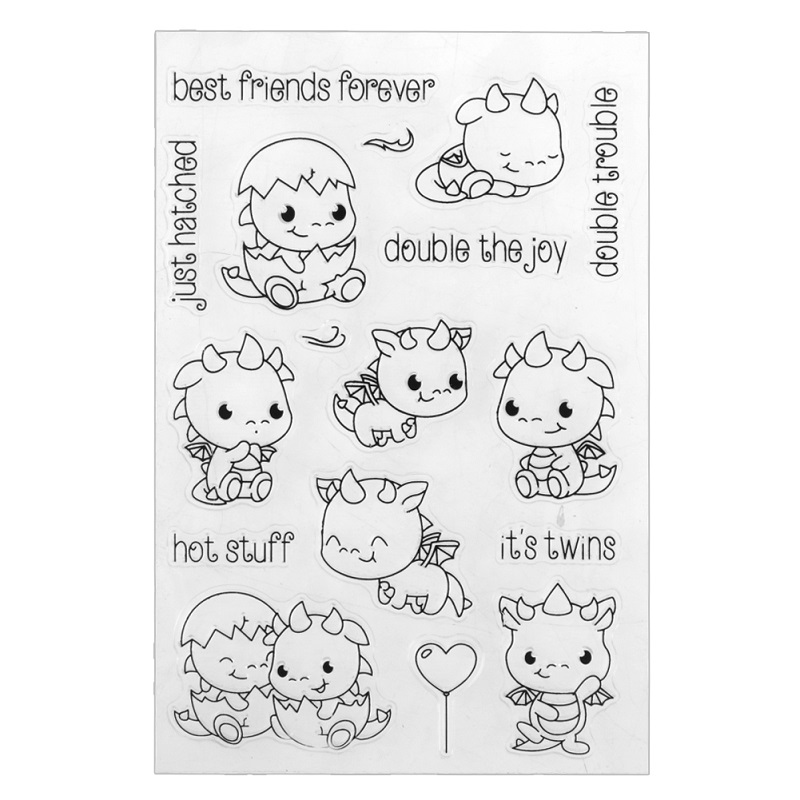 DIY Silicone Clear Stamp Transparent Seal for Photo Album Decoration Animal Cartoon Stamp Craft Scrapbooking Gift about loving heart design transparent clear silicone stamp for diy scrapbooking photo album clear stamp christmas gift ll 278