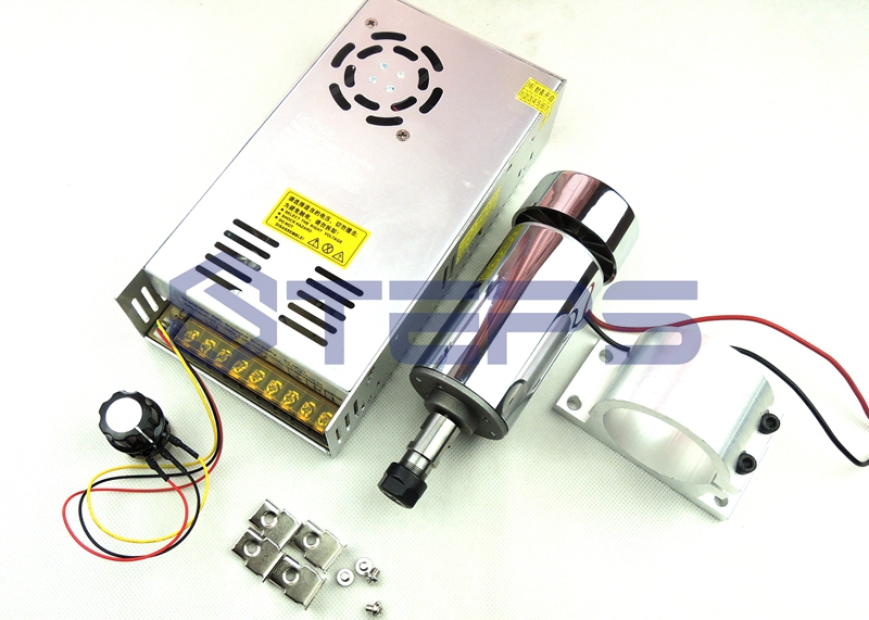 DC12-48V 0.3kw spindle motor ER11 chuck CNC 300W Spindle Motor + 52mm mount bracket + Power Supply speed governor For DIY CNC shop promotions free 1pcs 3 175 1 8 chuck 10pcs dc 12 57 cnc 200w spindle motor mount bracket 12 110vdc for engraving carving