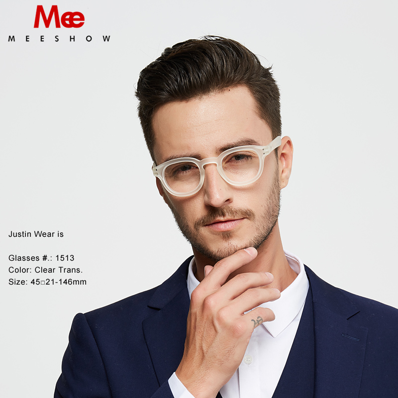 2019 MEESHOW Prescription Glasses Frame Europe Style Hot Sales  Men Women Clear Eyeglasses Quality Optiker  Brille With Case(China)