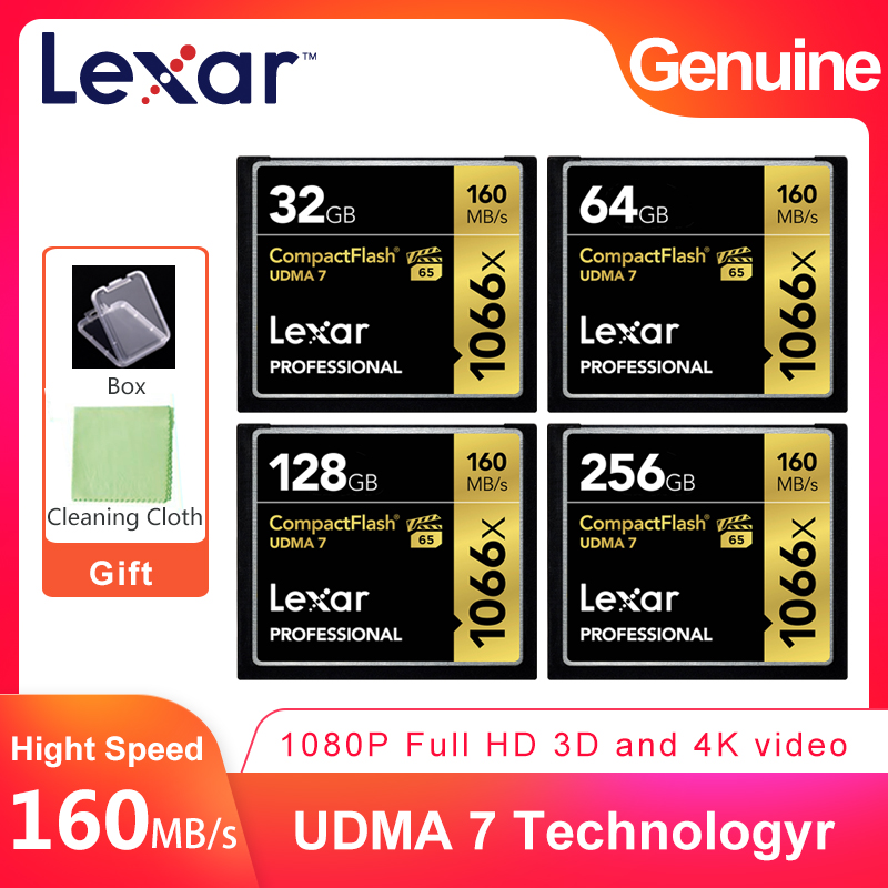 Lexar Professional 160MB S 1066x CF 32GB 64GB 128GB 256GB VPG 65 CompactFlash Memory Card For
