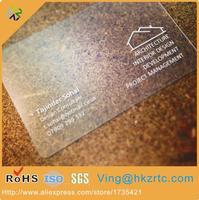 (1000pcs/lot) 2017 customized PVC plastic transparent buiness card /VIP card