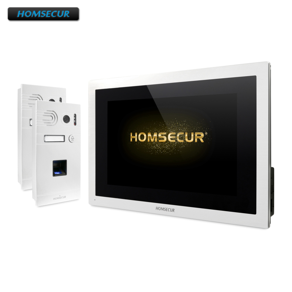 HOMSECUR 4 Wire Video Door Entry Security Intercom With Aluminium Alloy Camera 110 Degree BC061HD-S+BM114HD-S