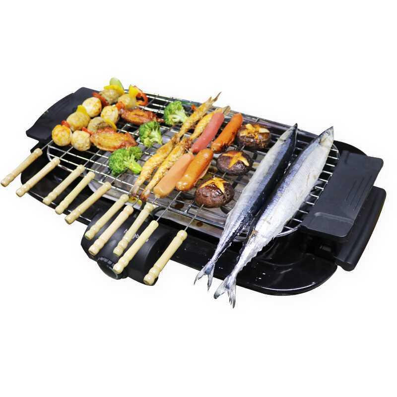 SC-120R Contatto Elettrico Grill Senza Fumo Barbecue Barbecue Cremagliera di Sollevamento Antiaderente Superficie di Cottura Padella Piatta Nuova Cucina di Cottura strumento