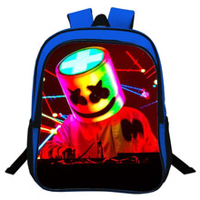 купить Cosplay Backpack Game Battle Royale DJ Smiley Face School Bags Teenagers For Kids Women&Men Fashion leisure travel Backpack дешево
