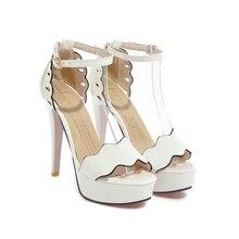 KarinLuna 2018 Large Size 32-47 Brand Top Quality Sexy Super High Heels Summer Shoes Sandals Wedding Sandal Shoes Women