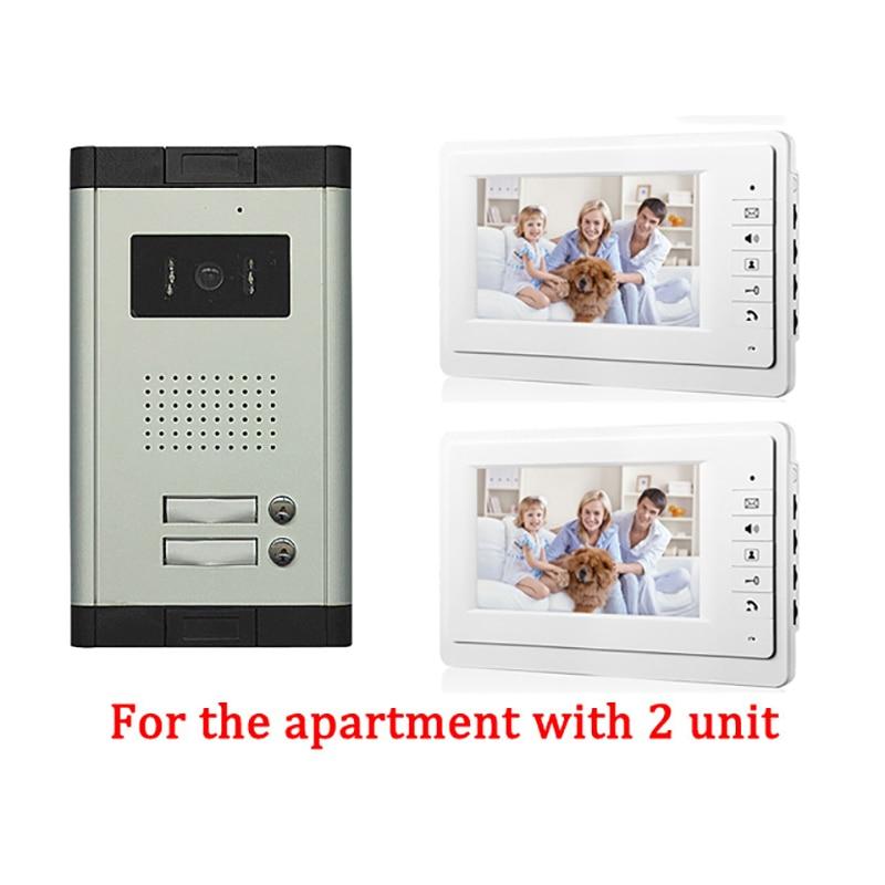 Apartment 2 Unit Intercom Entry System Wired Video Door Phone Audio Visual new apartment 2 unit intercom entry system wired video door phone audio visual