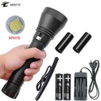 XHP70 Lặn Đèn Pin 18650 26650 Light Dive Torch LED Dưới Nước Đèn Pin 100 M Không Thấm Nước Lặn Đèn lanterna