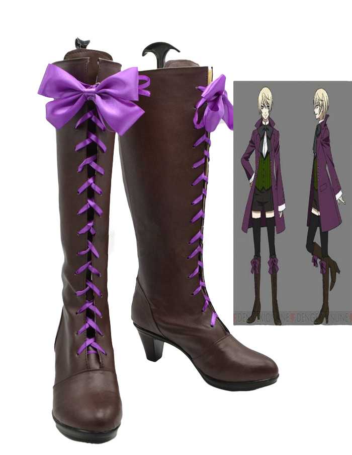 New Black Butler Aihara Alois Trancy Cosplay Boots Shoes Handmade Hot Sale