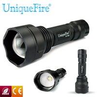 UniqueFire 1505 XM-L2 LED ajustable linterna 5 interruptor de cambios 1200LM 38mm lente convexa para acampar envío gratis