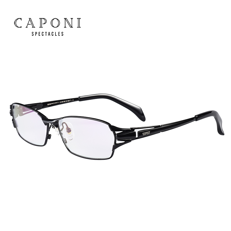 Caponi Men Pure Titanium Eyeglasses Frame Business Glasses Fashion Full Frame Optical Frame 1190