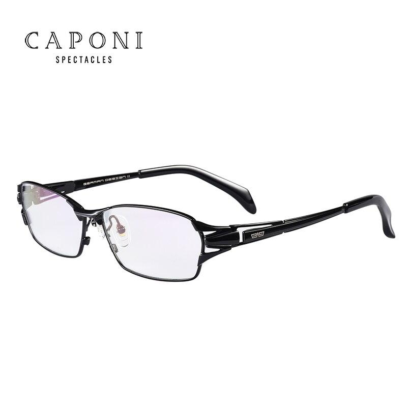Caponi hommes pur titane lunettes cadre affaires lunettes mode plein cadre optique cadre 1190