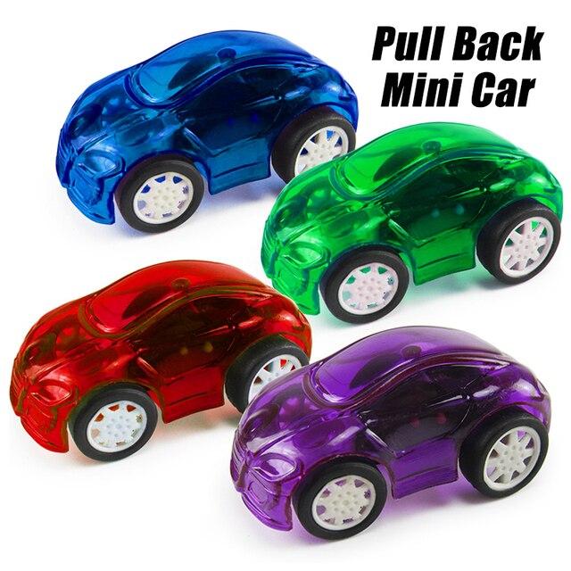 8pcs Cute Candy Color Mini Car Transparent Plastic Toy Cars For Kid