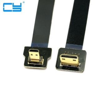 20 cm FPV 90 Graus Micro HDMI Macho para Mini FPC Flat Cable GOPRO Multicopter Fotografia Aerea