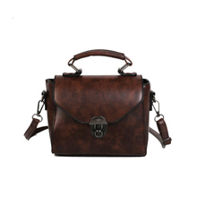 Personality Female Messenger Bags Small Square Bag Fashion Lady Oil Wax Soft Leather Retro Solid Color