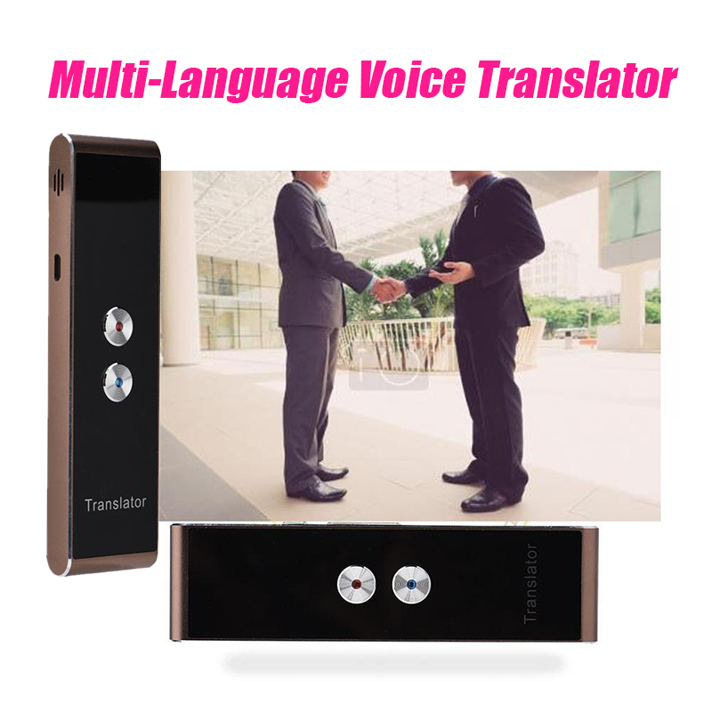Multi-Language Voice Translator Portable Smart Two-Way Real Time Translator for Learning Travel Meeting