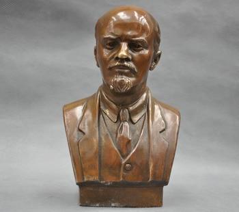 17.8 cm * / Soviet Leader Vladimir Ilyich Ulyanov Lenin Bust Bronze Statue  Free shipping