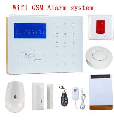 New Arrivel Voice Prompt Wifi Network smart alarm GSM Home Automation Burglar Alarm Wifi  Alarm System