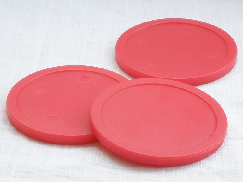 Free Shipping 10pcs/lot Red Air Hockey Table Pusher Puck 82mm 3.25