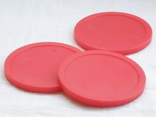 Free shipping 10pcs/lot red Air hockey table pusher puck 82mm 3.25″ mallet GoalieS