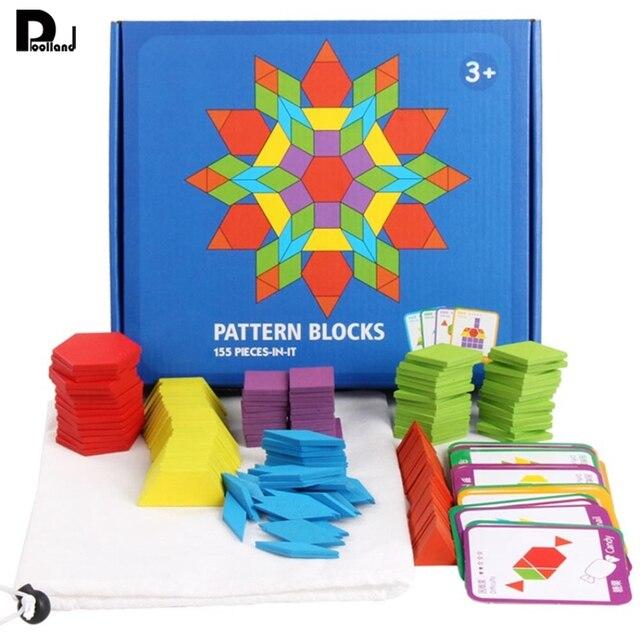 155 piezas Montessori juego de rompecabezas de madera juego colorido bebé juguete educativo de madera para niños aprendizaje juguetes en desarrollo